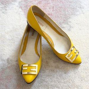 Vintage Fendi Yellow Flats